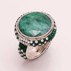 Natural African Green Emerald Gemstone 925 Sterling Silver Ring Fine Jewelry New Green Emerald Ring, Emerald Gemstone, Gemstone Rings, Clean Sterling Silver, Sterling Silver Jewelry, Jewelry Gifts, Fine Jewelry, Turkish Jewelry, Fashion Jewelry