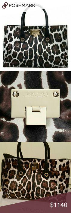 Jimmy Choo Riley Leopard Pony Bag Jimmy Choo Riley Leopard Pony Bag Bags Satchels