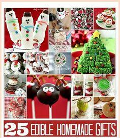 25 edible homemade gifts.