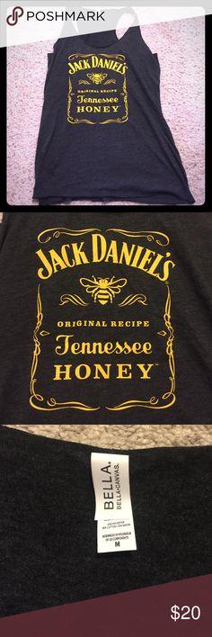 NWOT Jack Daniels Tank Top NWOT!! This is a looser fitting tank - Jack Daniels Honey (which is bomb btw!) #merica ❤️🇺🇸 - dark heather gray color, not black Jack Daniels Tops Tank Tops