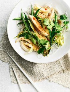 Sticky ginger chicken and green bean stir-fry