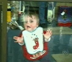 First time forgetting how glass windows work: | 18 Babies Experiencing Things For The First Time