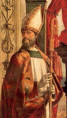 Ercole de' Roberti - Pala Portuense: dettaglio Sant' Agostino - 1479-1481 - Milano, Pinacoteca di Brera