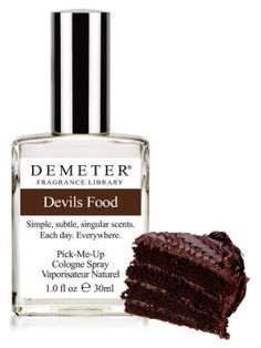 Fragrance of the Day is Devils Food in honor of the Hostess Cupcake. 50% off with code11231466. #FOTD    http://www.demeterfragrance.com/704271/products/Devils-Food.html