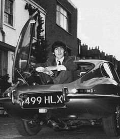 Baby you can drive my car - George in trunk of the Jag