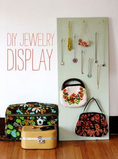 Build a movable accessory display.   26 Cheap And Easy Ways To Have The Best Dorm Room Ever