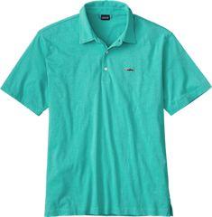 Patagonia Men's Trout Fitz Roy Polo Shirt Galah Green Xxxl #polosshirt