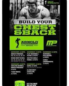 Mp workout of the day arnold blueprint to mass chestbackabs arnold blueprint to mass chestbackabs powered by ironcre3 tag someone who wan pinterest workout exercises and muscles malvernweather Choice Image