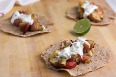 Roasted potato tacos on whole grain tortillas. A healthier alternative to taco night?