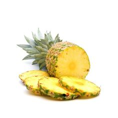fresh slice pineapple on white background ❤ liked on Polyvore featuring food, fruit, fillers, food and drink and backgrounds