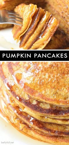 fall recipes dinner Filled with brown sugar, cinnamon, buttermilk, and pumpkin, this easy recipe for Pumpkin Pancakes is a perfect Fall breakfast or all year round! Fall Breakfast, Breakfast Dessert, Breakfast Dishes, Breakfast Recipes, Pancake Recipes, Breakfast Ideas, Gourmet Breakfast, Mexican Breakfast, Homemade Breakfast