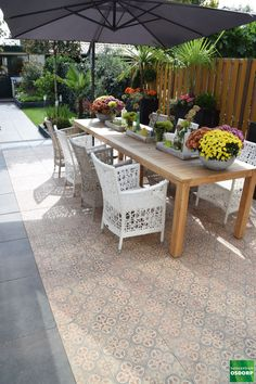 Outdoor Decor, Garden Tiles, Outdoor Rooms, Backyard Furniture, Terrace Tiles, Diy Garden Decor, Apartment Decor, Entryway Flooring, Back Garden Design