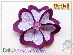 Como fazer flores de tecido e feltro com corações