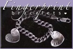 Silver Fingerprint Necklaces of your child