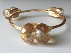The Drum Bangle  Champagne by LuELsDecor on Etsy