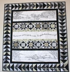 Over the River Quilt - I am doing the embroidery in brown ... so, brown blocks