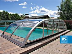 Select high quality polycarbonate retractable swimming pool enclosure and cover products varied in style. There are many reasons to build a aluminum telescopic swimming pool enclosures, retractable swimming pool enclosures UV protection. Swimming Pool Enclosures, Swimming Pool Kits, In Ground Pool Kits, In Ground Pools, Retractable Pool Cover, Above Ground Pool Cover, Diy Pool, Hotel Pool, Dream Pools