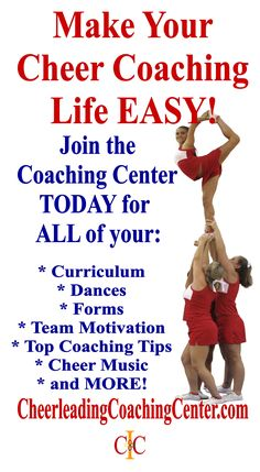 Would you LOVE to make your cheerleading coaching life super EASY with ALL of your curriculum , forms, tips and more in 1 place? We have all of that and MORE to help you make your season EASY and FUN! Join us TODAY on CheerleadingCoachingCenter.com for all of the details. We look forward to helping you have an amazing season!