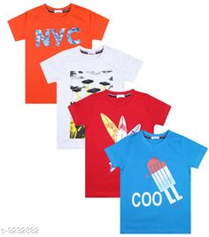 Tshirts & Polos Luke and Lilly Boys Cotton Half Sleeve Tshirt - Pack Of 4  Fabric: Cotton Sleeve Length: Short Sleeves Pattern: Printed Multipack: Pack of 4 Sizes:  4-5 Years (Chest Size: 12 in Length Size: 17 in Waist Size: 13 in)  5-6 Years (Chest Size: 13 in Length Size: 18 in Waist Size: 13 in)  3-4 Years (Chest Size: 12 in Length Size: 16 in Waist Size: 12 in)  6-7 Years (Chest Size: 14 in Length Size: 19 in Waist Size: 14 in)  7-8 Years (Chest Size: 14 in Length Size: 20 in Waist Size: 14 in)  2-3 Years (Chest Size: 11 in Length Size: 15 in Waist Size: 11 in) Country of Origin: India Sizes Available: 2-3 Years, 3-4 Years, 4-5 Years, 5-6 Years, 6-7 Years, 7-8 Years   Catalog Rating: ★4.2 (481)  Catalog Name: Tinkle Comfy Boys Tshirts CatalogID_1607520 C59-SC1173 Code: 864-9232882-9941