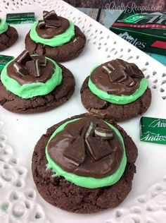 I love mint everything but one of my favorite desserts are these Andes mint grasshopper cookies! They are surely a crowd pleaser. Cookie Ingredients: 2 1/2 C flour 3/4 C unsweetened cocoa powder 1 tsp baking soda 1 C white sugar 1 C packed brown sugar 1 C unsalted butter, room temp 2 tsp vanilla …