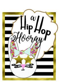Hipster Easter Hip Hop Girl Bunny Printable Sign via Mandy's Party Printables