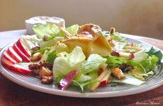 Salade Normande pommes Camembert au caramel poivré