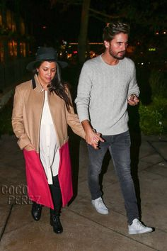 Kourtney Kardashian & Scott Disick Cozy Up In Casual Chic Looks Before Baby Number Three!