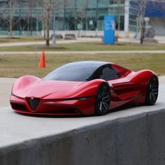 Alfa Romeo thesis project by Fadi Hannawa from the Lawrence Tech University (USA) Luxury Sports Cars, Top Luxury Cars, New Sports Cars, Exotic Sports Cars, Super Sport Cars, Maserati, Nissan Gt R, Lamborghini Cars, Bmw Cars