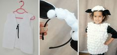 This DIY tutorial walks you through how to make a sheep costume and a cow costume for a manger scene or halloween costume! Halloween 2017, Baby Halloween, Halloween Costumes, World Book Day Costumes, Book Week Costume, Carnaval Kids, Sheep Costumes, Fall Fest, Funny Babies