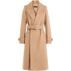 Joseph Wool Coat found on Polyvore featuring outerwear, coats, jackets, coats & jackets, camel, red coat, red wool coat, belted coat, woolen coat and slim fit coat