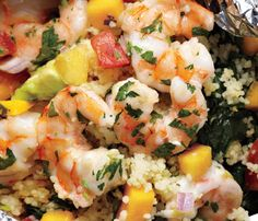 Grilled Shrimp & Avocado-Mango Salsa  (Recipe Made)