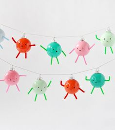 Friendly Ornament Garland | Handmade Charlotte