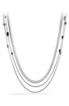 David Yurman 'Confetti' Station Necklace with Black Onyx, Black Diamonds and Gold available at #Nordstrom