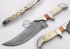 "11.50"" Custom hand made Beautiful Damascus steel Bowie hunting Knife (919-1) #KnifeArtist"