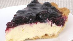 What could be better than fresh blueberries? Blueberries atop cheesecake made with Pillsbury pie crust, of course!