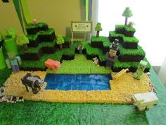 Vanessa turns 10 | CatchMyParty.com Minecraft Cake