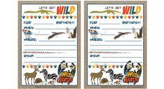 Wild Kratts Birthday Invitations Printable You Print Custom Party Recipes — Dishmaps 6th Birthday Parties, Birthday Fun, Birthday Ideas, Birthday Party Invitations Free, Wild Kratts, Safari Party, Animal Birthday, Animal Party, Pbs Kids