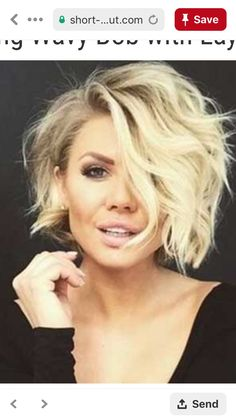 - Most women aspiration just about having beautiful bright hair. They use a broad variety of hair care products in the . Wavy Hair Care, Blonde Hair Care, Short Wavy Hair, Curly Hair Styles, Bobs Blondes, Blonder Bob, Corte Y Color, Bright Hair, Great Hair