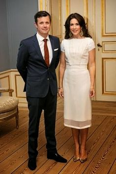 Crown Princess  Mary and Crown Prince Frederik hosted a dinner for actors related to sustainable fashion during the Copenhagen Fashion Summit 2014 in Frederik VIII's Palace.