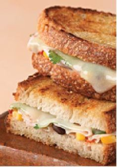 Southwest Grilled Cheese – What gives our grilled cheese sandwich its Southwest style? Black bean salsa. Fresh cilantro. And plenty of melted habanero cheese.