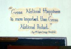 gross national happiness (Bhutan)