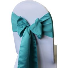 Wholesale lamour chair sashes for wedding chair covers! High quality yet cheap chair bows for weddings. Turquoise Chair, Teal Chair, Chair Bows, Wedding Chair Sashes, Wedding Chairs, Chair Covers, Table Covers, Wholesale Linens, Table Overlays