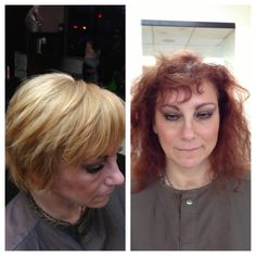 Hair by Basil. Before and after. Time for a change and a fresh start!