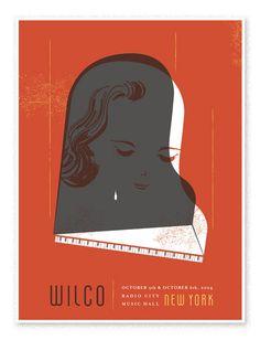 Wilco NYC  Show poster for Wilco at Radio City Music Hall.
