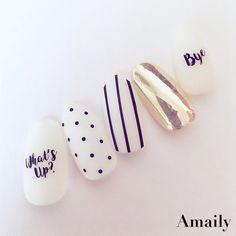 7月発売メッセージシール♡ #Amaily#アメイリー #nails#nailart#nailstickers#nailswag #instanails#nailstagram #gelnails#kawaii#nailartculb#nailaddict… Perfect Nails, Gorgeous Nails, Love Nails, Stylish Nails, Trendy Nails, Nails 2017, Nailart, Christmas Nails, Swag Nails