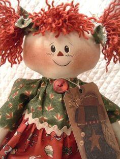 raggedy ann doll .....sample face & hair
