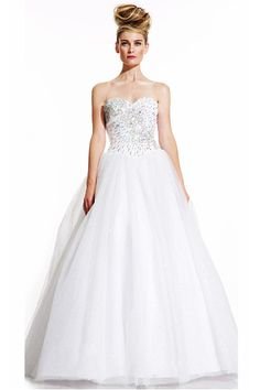Tulle Sleeveless Ball Gown Sweetheart Evening Dresses