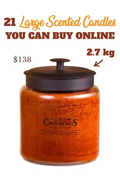 Crossroads kg candle. Large scented candles you can find online. Up to 10 kg! Candle Branding, Candle Rings, Large Candles, Rings Cool, Scented Candles, Open House, Fragrance, Canning, Home Canning