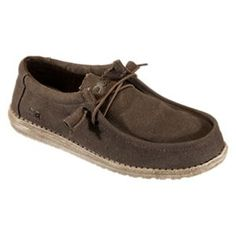 Hey Dude Wally Canvas Shoes for Men - Chocolate - 10M