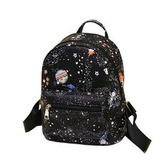 Backpacks Fashion Star Universe Space Printing Backpack Black School Bags For Teenage Girls Small Backpack Women Leather Mochila Escolar AliExpress Affiliate's Pin. Locate the offer simply by clicking the VISIT button Small Backpack, Black Backpack, Backpack Bags, Fashion Backpack, Backpack Online, Canvas Backpack, Tote Bag, Mini Mochila, Leather School Bag